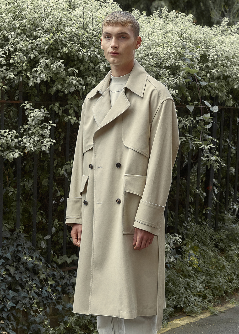 Oversized Trench Coat - Sand Beige