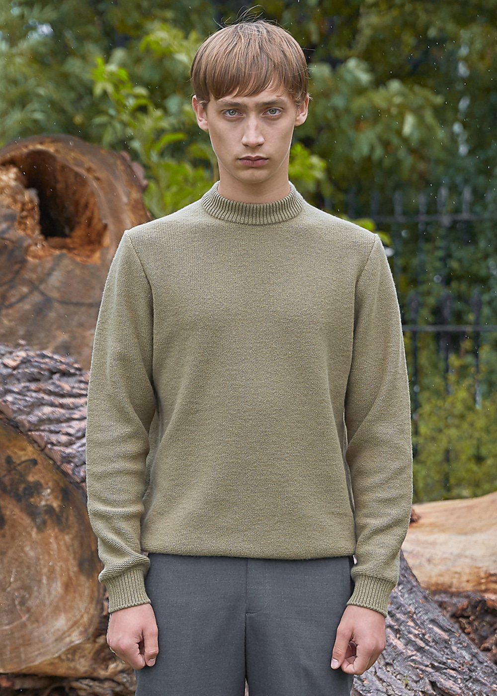 Blank Wool and Cashmere-blend Sweater - Organic Green