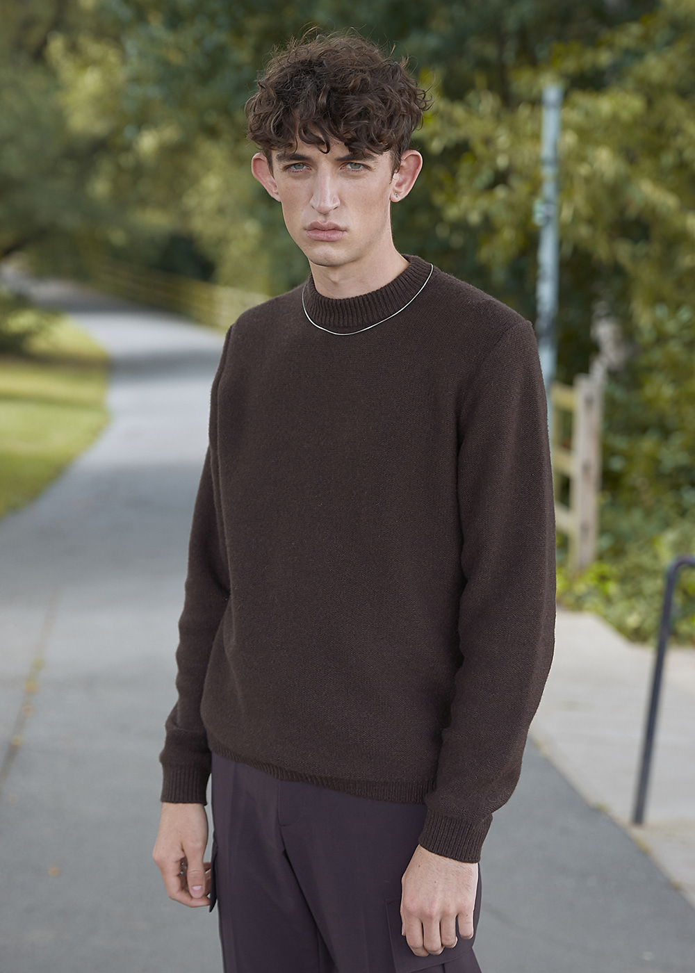 Blank Wool and Cashmere-blend Sweater - Chocolate Brown